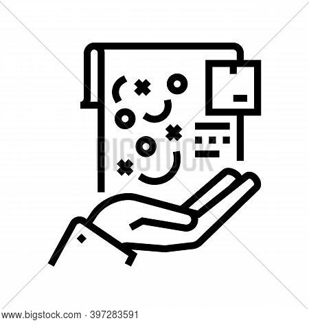 Planning And Strategy Of Supply Line Icon Vector. Planning And Strategy Of Supply Sign. Isolated Con