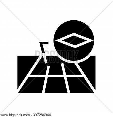 Concrete Slabs Road Glyph Icon Vector. Concrete Slabs Road Sign. Isolated Contour Symbol Black Illus