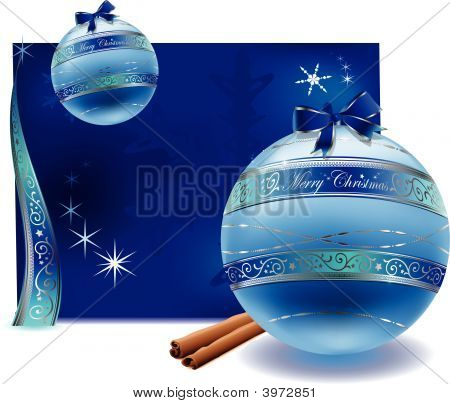 Vector Of Christmas Glas Balls Decoration