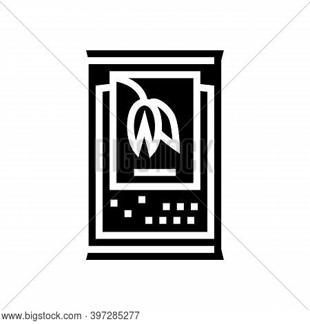 Portion Bag Oatmeal Glyph Icon Vector. Portion Bag Oatmeal Sign. Isolated Contour Symbol Black Illus