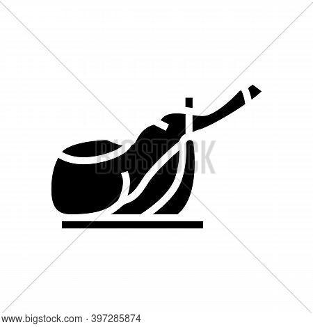 Ham Leg Meat Glyph Icon Vector. Ham Leg Meat Sign. Isolated Contour Symbol Black Illustration