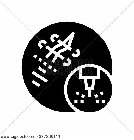 Scar Removal Laser Glyph Icon Vector. Scar Removal Laser Sign. Isolated Contour Symbol Black Illustr