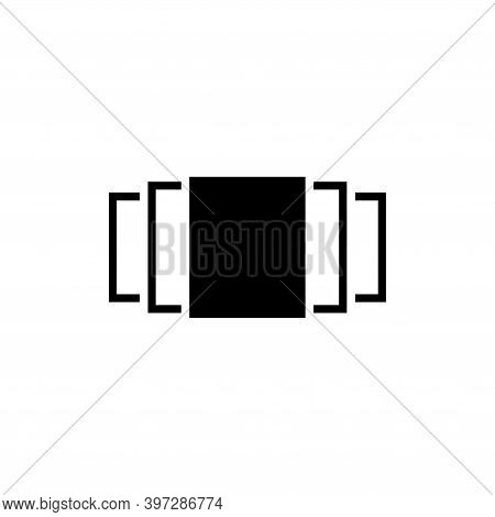 Picture Carousel, Photo Image Gallery. Flat Vector Icon Illustration. Simple Black Symbol On White B