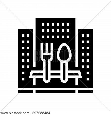 Hotel Catering Service Glyph Icon Vector. Hotel Catering Service Sign. Isolated Contour Symbol Black