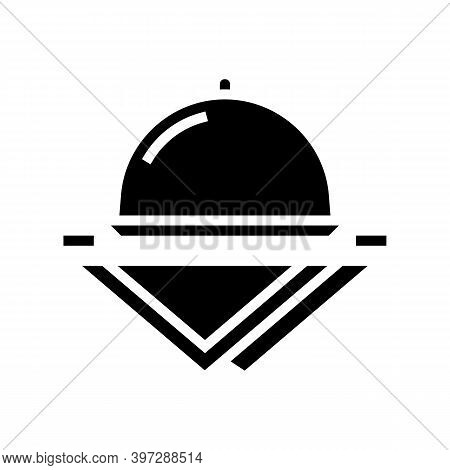 Tray And Napkins Glyph Icon Vector. Tray And Napkins Sign. Isolated Contour Symbol Black Illustratio