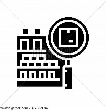 Inventory Management Glyph Icon Vector. Inventory Management Sign. Isolated Contour Symbol Black Ill