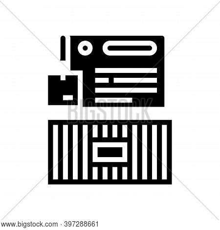 Agreement For Wholesale Product Transportation In Container Glyph Icon Vector. Agreement For Wholesa