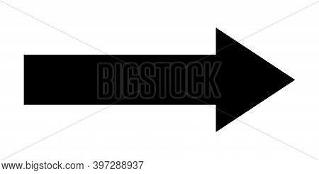 Arrow Icon. Black Arrow Sign Isolated. Vector Graphic Element. Web Arrow Navigation. Vector Illustra