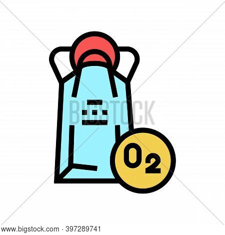 Oxygen Mask Package Color Icon Vector. Oxygen Mask Package Sign. Isolated Symbol Illustration