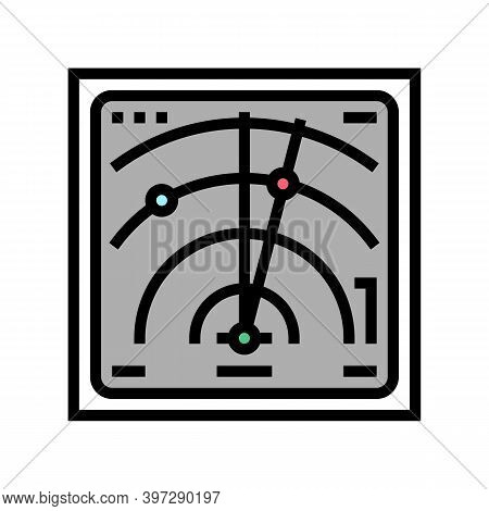 Radar Location Technology Color Icon Vector. Radar Location Technology Sign. Isolated Symbol Illustr