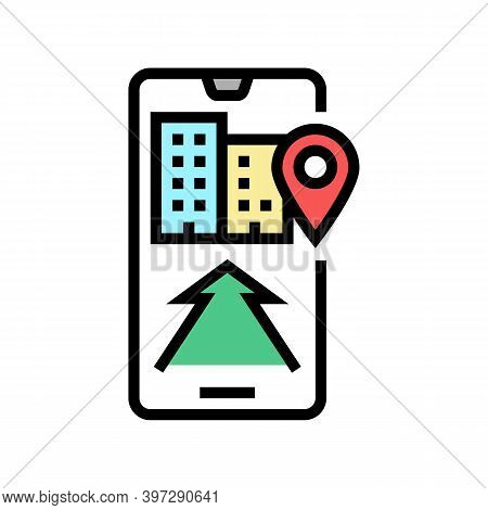 Mobile Application Navigation Color Icon Vector. Mobile Application Navigation Sign. Isolated Symbol