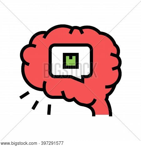 Brainstorm Design Of Box Color Icon Vector. Brainstorm Design Of Box Sign. Isolated Symbol Illustrat