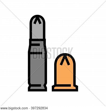 Bullet Types Color Icon Vector. Bullet Types Sign. Isolated Symbol Illustration
