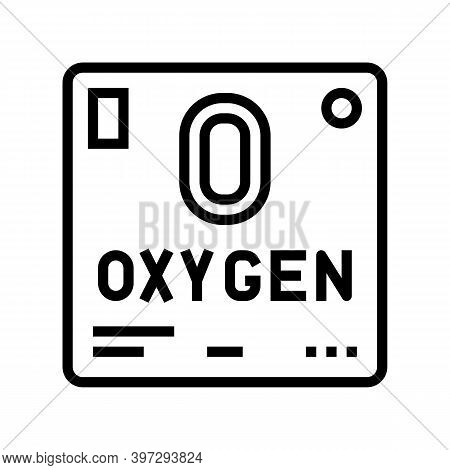 Chemical Element Oxygen 02 Line Icon Vector. Chemical Element Oxygen 02 Sign. Isolated Contour Symbo