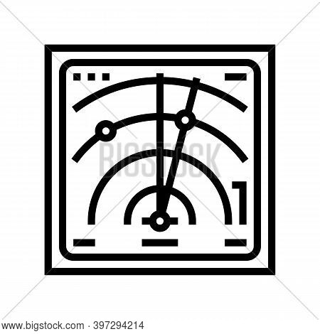 Radar Location Technology Line Icon Vector. Radar Location Technology Sign. Isolated Contour Symbol