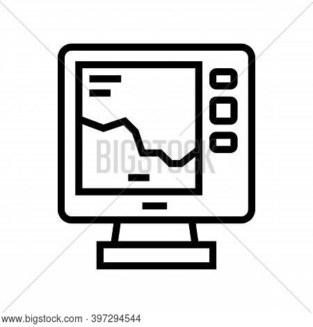 Boat Navigation Equipment Line Icon Vector. Boat Navigation Equipment Sign. Isolated Contour Symbol