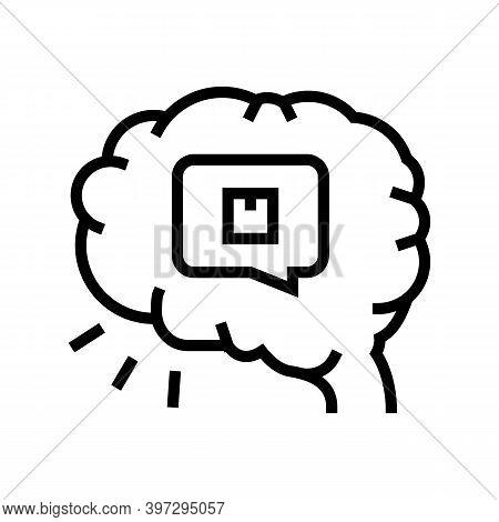 Brainstorm Design Of Box Line Icon Vector. Brainstorm Design Of Box Sign. Isolated Contour Symbol Bl