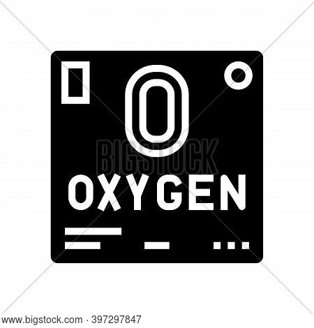 Chemical Element Oxygen 02 Glyph Icon Vector. Chemical Element Oxygen 02 Sign. Isolated Contour Symb