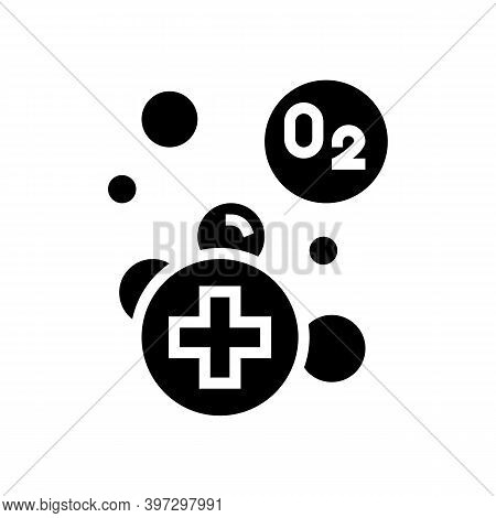Water Adding Oxygen Glyph Icon Vector. Water Adding Oxygen Sign. Isolated Contour Symbol Black Illus