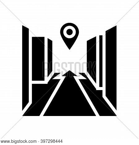 3d Navigation System Glyph Icon Vector. 3d Navigation System Sign. Isolated Contour Symbol Black Ill