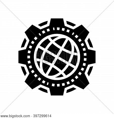 Earth Geology Research Glyph Icon Vector. Earth Geology Research Sign. Isolated Contour Symbol Black