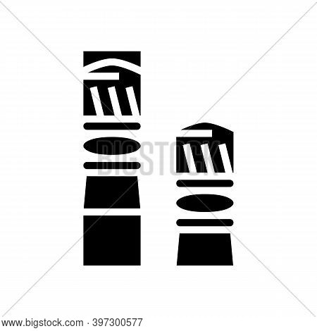 Bullets For Pneumatic Weapon Glyph Icon Vector. Bullets For Pneumatic Weapon Sign. Isolated Contour