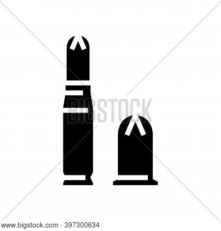 Bullet Types Glyph Icon Vector. Bullet Types Sign. Isolated Contour Symbol Black Illustration