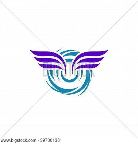 Wings Tornado Logo Vector Template, Creative Tornado Logo Design Concepts, Illustration, Icon Symbol