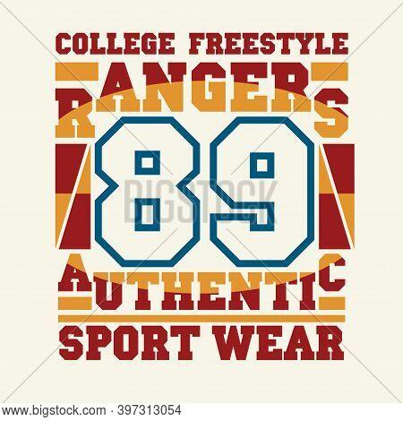 T-shirt Rangers, Sport A Printing, Original Design, Shirt Fashion