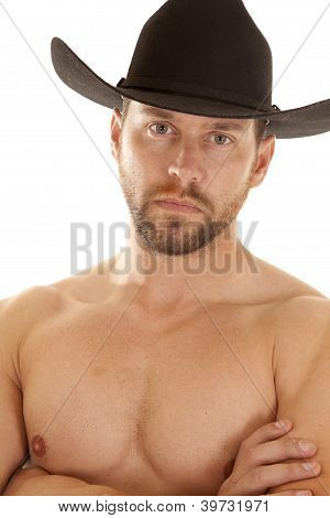 Close Up Chest Black Hat