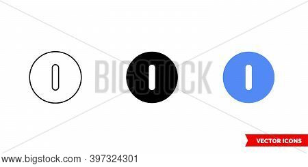 Hibernate Icon Of 3 Types Color, Black And White, Outline. Isolated Vector Sign Symbol.