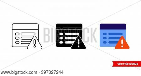 Urgent Property Icon Of 3 Types Color, Black And White, Outline. Isolated Vector Sign Symbol.
