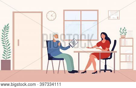 Old Man Write A Testament. Senior Drawing Will. Retirement Estate Planning, Property Transferring, F