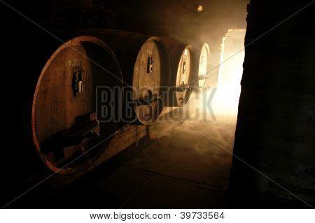 Wine Cellar And Casks