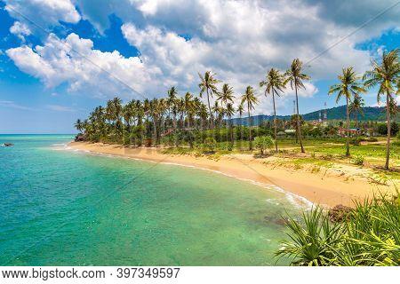 Khong Klong Beach On Koh Lanta Yai Island, Thailand In A Sunny Day