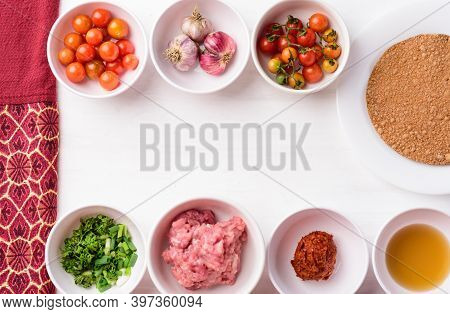 Thai Food Ingredients And Recipes, Northern Thai Food (nam Prik Ong), Spicy Chili Minced Pork With T