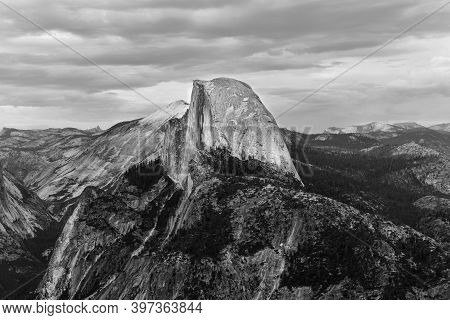 Glacier Point, An Overlook With A Commanding View Of Yosemite Valley, Half Dome, Yosemite Falls, And