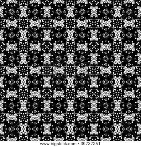 White & Black Ornate Background