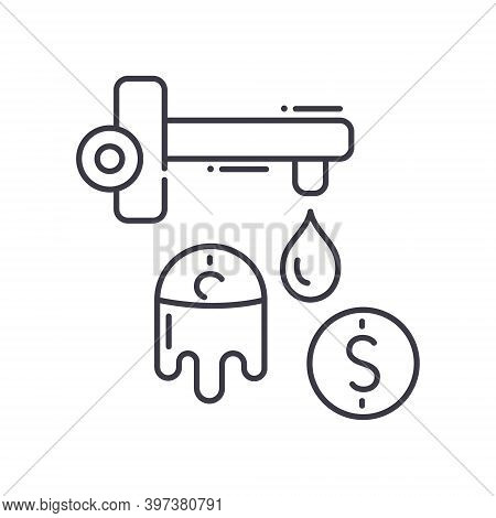 Money Laundering Icon, Linear Isolated Illustration, Thin Line Vector, Web Design Sign, Outline Conc