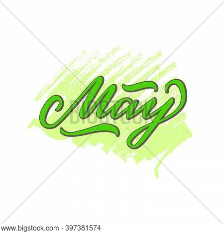 Vector Illustration Of May Lettering For Banner, Signage, Poster, Greeting Card, Shop Advertisement,
