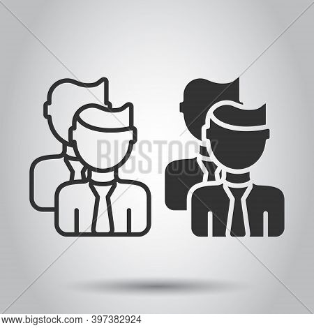 People Communication Icon In Flat Style. People Vector Illustration On White Background. Partnership