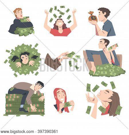 Rich Business People Set, Wealthy Men And Women, Millionaire Characters, Financial Success, Profit,