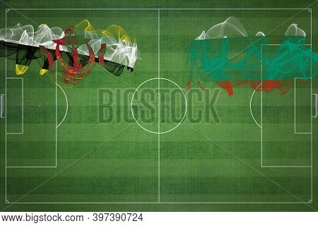 Brunei Vs Bulgaria Soccer Match, National Colors, National Flags, Soccer Field, Football Game, Compe