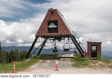 North Vancouver, Canada - July 6,2020: View Of Sign