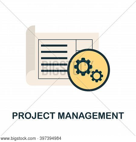 Project Management Icon. Simple Element From Project Management Collection. Creative Project Managem