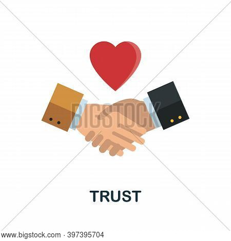 Trust Flat Icon From Reputation Management Collection. Simple Line Element Trust Symbol For Template