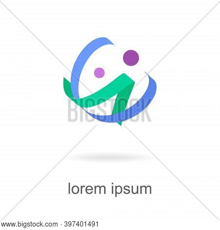 Trendy Abstract, Vibrant And Colorful Icon, Element Logo.