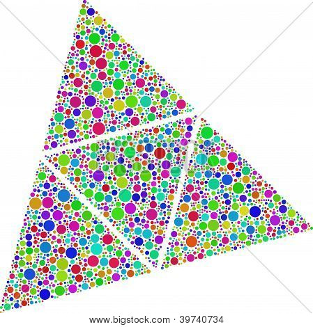 Decorative bubbles into a tetrahedron