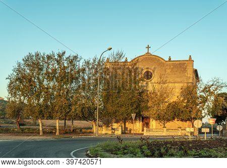 General View Of The Oratori De La Santa Creu. Christian Religious Building Located In The Majorcan T