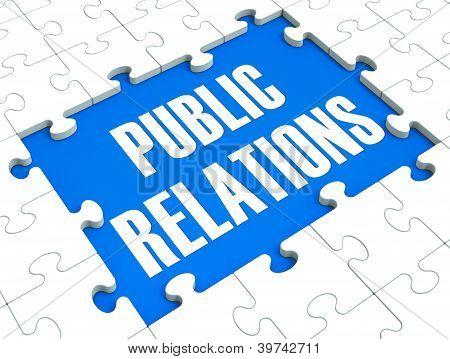 Public Relations Puzzle Shows Publicity And Press